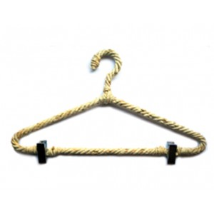 ADULT NATURAL ROPE HANGER WITH CLIPS