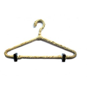 Kids Natural Rope Hanger with Clips